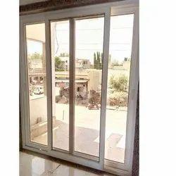 Toughened Glass White UPVC Sliding Doors