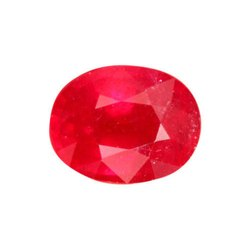 Red Oval Ruby Gemstone