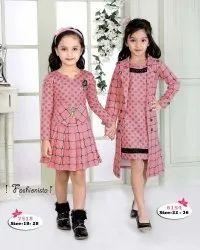 Girl Polka Dot And Checks Mix Match Stylish Kids Fancy Dress, 3-12 Years
