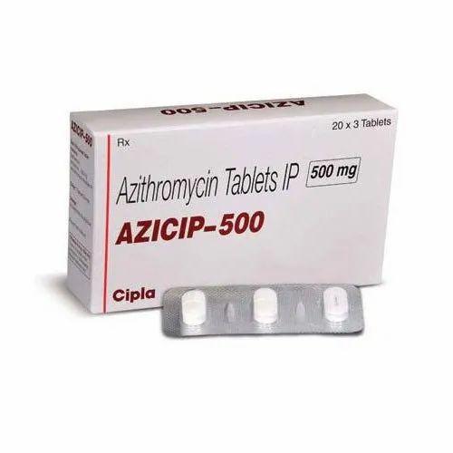 Azicip 500 Tablets Azythromycin 500mg