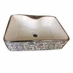 Ceramic Table Mount Designer Wash Basin, For Bathroom