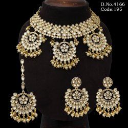 Designer Kundan Choker Necklace Set