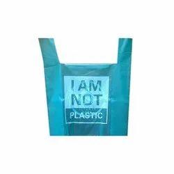 Plastic Biodegradable U Cut Printed Carry Bag, Capacity: 1 Kg, Thickness: 23 - 25 Micron