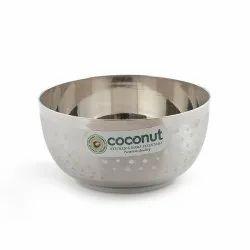 Coconut Stainless Steel Vati C24 Shower Apple Bowl