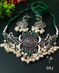 Chokar Party Oxidised Necklace Set