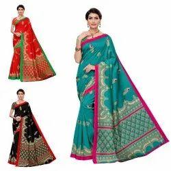 Attractive Design In Art Silk Saree