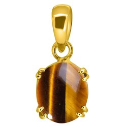 Tiger Eye Stone Pendant Men and Women Asthdhatu Gemstone