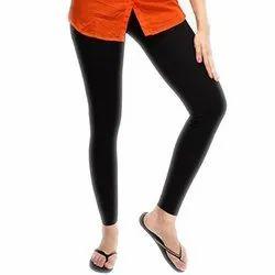 Cotton Full Length Black Lycra Ladies Legging