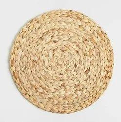 Hand Woven Basket Weave Table Mats Kauna Grass / Water Reed Dining Mat, 1 Pc