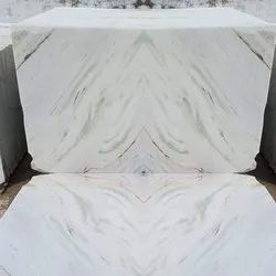 Polished Finish White Marble Slab, Application Area: Flooring, Thickness: 10-15 mm