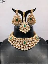 Party Wear Artificial Pearl Kundan Necklace Set