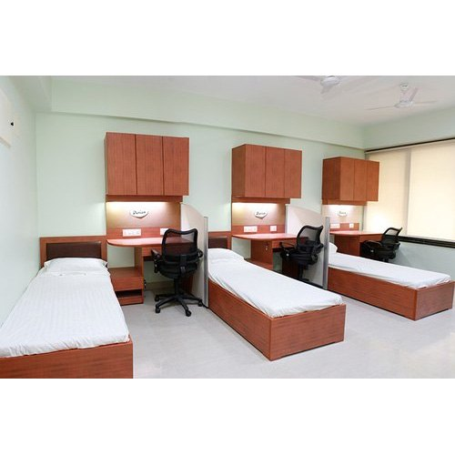 Black and brown Wooden Hostel Room Set, Warranty: 2 Year, for Hostel and home