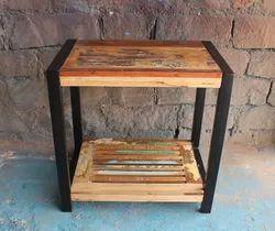 Antique Rectangular Furniture Use Bedroom Industrial Bedside Table, For Home