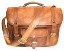 Genuine Leather Classic Office Shoulder Bag