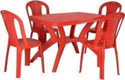Nilkamal Shahenshah Cross Dining Table, Four Seater