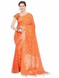 ceeab7dc23 Banarasi Cotton Saree - Designer Cotton Blend Weaving Saree with ...