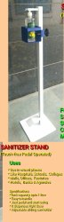 1 Floor Mounted Foot Rest Sanitary Ware, For Sanitizer