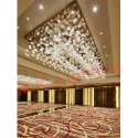 M K Lighting Ceiling Mounting Glass Chandelier For Banquet Hall