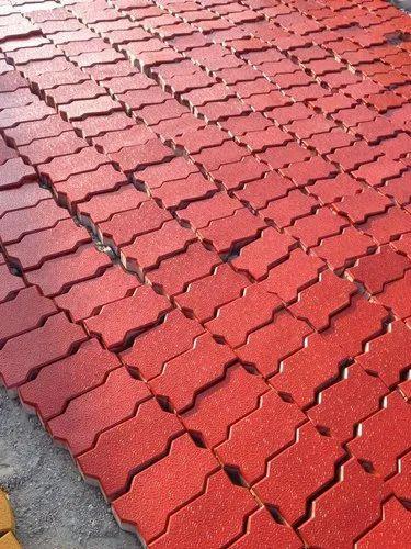Zigzag 80mm Pavers Concrete M40 Grade Zigzag Pavers Blocks, Thickness: 80 Mm, for Pavement, Rs