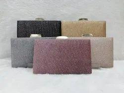 Embroidered Kimaya Metal Crystal Clutch Bags