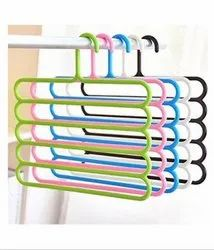 Multicolor Floraware Plastic 5-Layer Hanger for Cloth Hanging