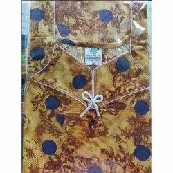 Full Length Stitched Seekret Cotton Fancy Nighty, Size: Xl