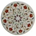 Octagonal Marble Inlay Mother Of Pearl Stone Table Top