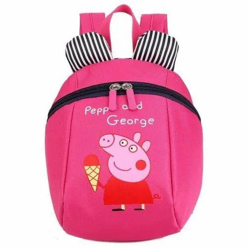 Nylon Kids Printed School Bag