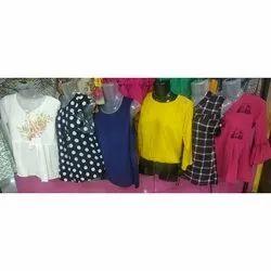 Ladies Plain Causal Wear Printed & Plain Top, Packaging Type: Bag