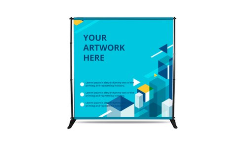 Adjustable Backdrop Banner Stand with Print
