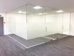 SS Handle Glass Partition