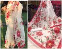 Party Wear Floral Organza Saree