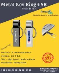 Metal Key Chain USB Pen Drive