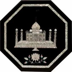 Octagonal Marble Stone Inlay Pietra Dura Table Top