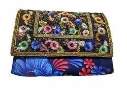 Handled Zari Hand Bag