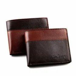 Bi Fold Plain Leather Brown Gents Wallet