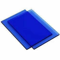 Rectangular Plain Blue Float Glass, Thickness: 5 mm