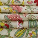 6 Kam Multi Color Floral Gad Gal Hand Block Print Cotton Fabric