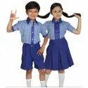 Kids Blue Cotton School Uniform