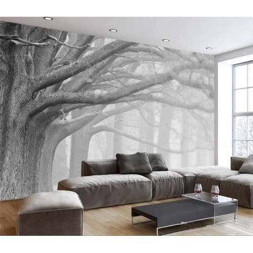 Black And White Living Room Wallpaper
