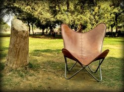Genuine Leather Designer Butterfly Chair