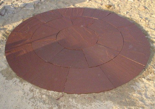 Sandstone Chocolate Circle, Packaging Type: Packing In Wooden Crates