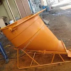 Tower Crane Lay Down Cow Mouth Concrete Bucket