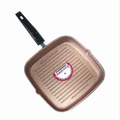Evershine Non Stick Granite Finish Grill Pan, Size: 275 Mm X 235 Mm, Packaging Type: Box