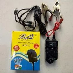 Bit 2 Black DC 5 in1 Mobile Charger