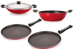 Nirlon Non-Stick Aluminum Cookware Combo Set Of 4