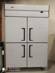 Four Door Vertical Freezer In Stainless Steel  Body