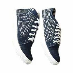 Ladies Canvas Platform Shoes