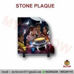 Left Shed Shaped Stone Photo Slate