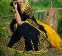 Cotton Silk Mirror Work Saree